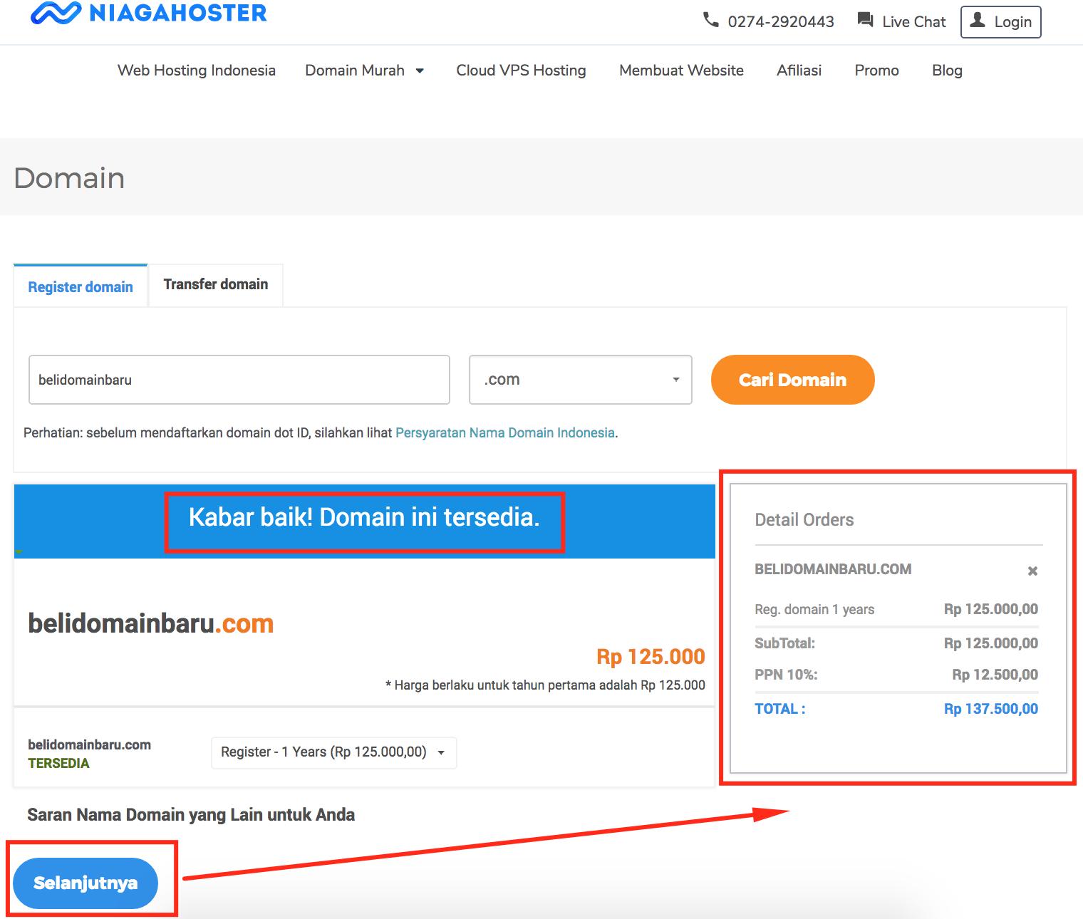 cara beli domain untuk pemula